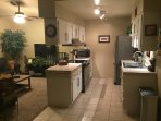 Kitchen Stainless Steel Appliances Incl.Dishwasher and Living room