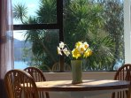 Dining table captures sun and views