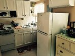 Renovated kitchen. New refrig/freezer, new microwave, coffeemaker. New mini split A/C. Stove/oven