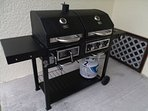 We have two gas grills! No charge for gas