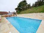 Shared outdoor heated pool