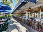 Take the free trolley to St Armands Cirlce. A 'must see'!