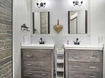 Double vanities make it easy to share the bathroom.