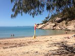 Alma Bay - perfect beach for swimming, snorkelling, diving and relaxing in the shade