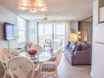 You will enjoy dining for up to four in the sunwashed condo.