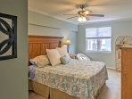 At the end of the day, enjoy peaceful slumbers in the plush king bed in the master bedroom.