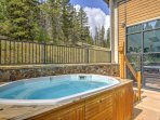 Soak your sore muscles in the community hot tub.