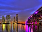 Miami skyline is truly spectacular and watching it come alive at night is certainly an experience!