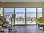 Wake up to fantastic views each morning from the  wraparound balcony with southeast views of Jacksonville Beach.
