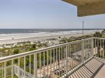Check out the great views of the Jacksonville Beach Pier from the wraparound balcony!