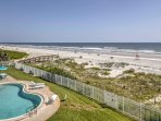 The property is just steps from the beautiful white sand beach!