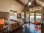 Step onto the private balcony of the upstairs master bedroom to scope out the ski hill.
