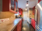 The guest house is equipped with its own full kitchen.