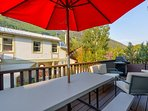 You'll find an outdoor dining area, a grill, and great views on the back porch.