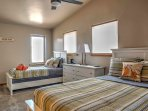 Pick a spot on the queen bed or twin bed when you relax and rest up in the third bedroom.