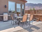 Guests can also utilize the stainless steel grill outside for an at-home BBQ.