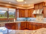 The kitchen is perfect for large family meals