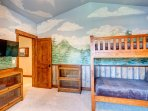 Bedroom #2 - Bunk room with fun mural painting