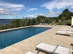 100 sqm of sunbathing - fantastic view - saltwater pool - outdoor kitchen- Enjoy !