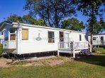 6 berth caravan for hire at Carlton Meres Country Park.