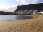 Playa de Mogan beach late afternoon
