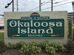 We are on Beautiful Okaloosa Island in Fort Walton.