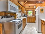 Prepare a delicious home-cooked meal in the fully equipped kitchen.