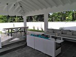 Villa Riviera 2 - Terrace with garden and pool view