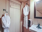 Robes available for use at the home.
