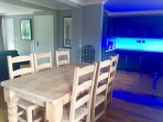 Open plan dinning and kitchen area with rise and fall kitchen units... all DDA compliant.
