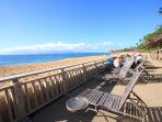 Kaanapali Beach as seen from the private cabana that is for guests of the Maui Eldorado