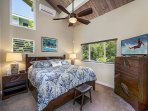 Surf's Up bedroom equipped with King bed and A/C!