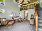 Ohana bedroom steps from living room