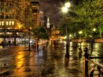 Union Square is the teeming commercial hub of the city. It is only 1 block away from the apartment