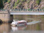 Not to be missed - the wonderful pleasure boat cruise which takes you 15kms along the river Creuse.