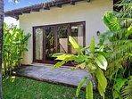 Casa Oasis bedroom with door to garden
