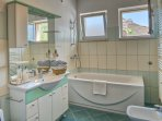 Bathroom with wasching mashin