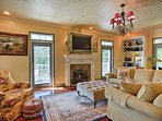 Boasting 2,400 square feet of charming living space, the cottage comfortably sleeps 8.