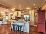 This fully equipped kitchen has everything you need to cook up your favorite dinners and desserts.