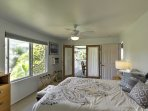 Enjoy the cool air of the master bedroom air conditioning.