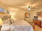 Those sharing the master bedroom will enjoy a new king bed, digital TV, and a 2 sink bathroom with a glass-enclosed...