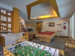 Stay entertained in the game room at the community clubhouse.