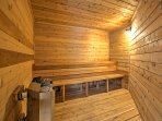 Detox in the dry sauna.