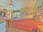 Master Bedroom with a Queen Bed, Flat Screen TV/DVD, Private Bath with Dual Sinks, Soaking Tub and Shower, and Mountain...