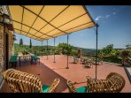 Dining on terrace with views of countryside_2nd