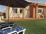 Front Garden of Casa Paraiso. Pool Area via private gate.