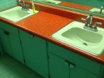 BA 3 Hall bath with custom counter tops, double vanity with hudee rings, light-up toilet seat