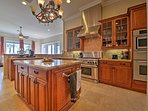 Prepare you favorite recipes in the gourmet kitchen.