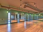Yoga enthusiasts and dancers will love this fitness studio.