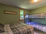 The second bedroom is perfect for siblings to share.